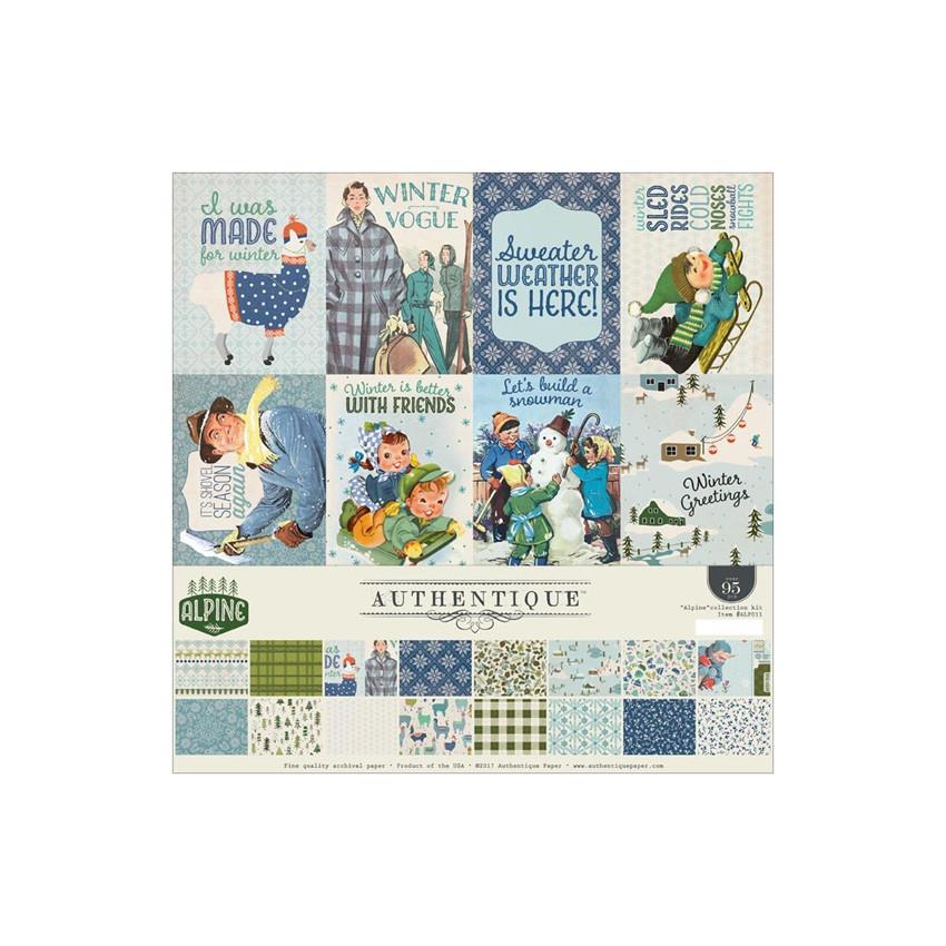 Kit complet 30,5 x 30,5 cm collection ALPINE