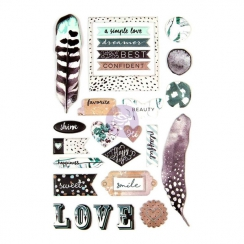 Stickers Puffy ZELLA TEAL