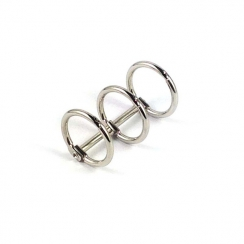 Reliure 3 anneaux argentée