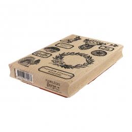 Tampon bois espagnol FELICIDAD DEL DÍA par Florilèges Design. Scrapbooking et loisirs créatifs. Livraison rapide et cadeau da...