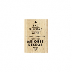 PROMO de -99.99% sur Tampon bois espagnol PAZ Y AMOR Florilèges Design