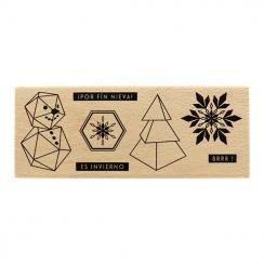 PROMO de -99.99% sur Tampon bois espagnol TROCITOS DE INVIERNO Florilèges Design