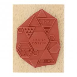 Tampon bois espagnol MIS MEJORES DESEOS par Florilèges Design. Scrapbooking et loisirs créatifs. Livraison rapide et cadeau d...