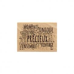 Tampon bois VINTAGE par Florilèges Design. Scrapbooking et loisirs créatifs. Livraison rapide et cadeau dans chaque commande.