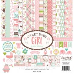 Kit papier imprimé  SWEET BABY GIRL