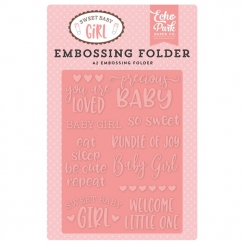 Plaque d'embossage Sweet Baby Girl PRECIOUS BABY
