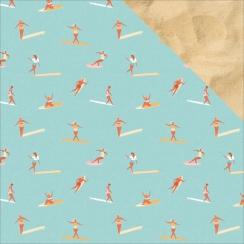 PROMO de -30% sur Papier imprimé Summer Splash SURFERS Kaisercraft
