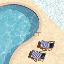 Papier imprimé Summer Splash POOLSIDE