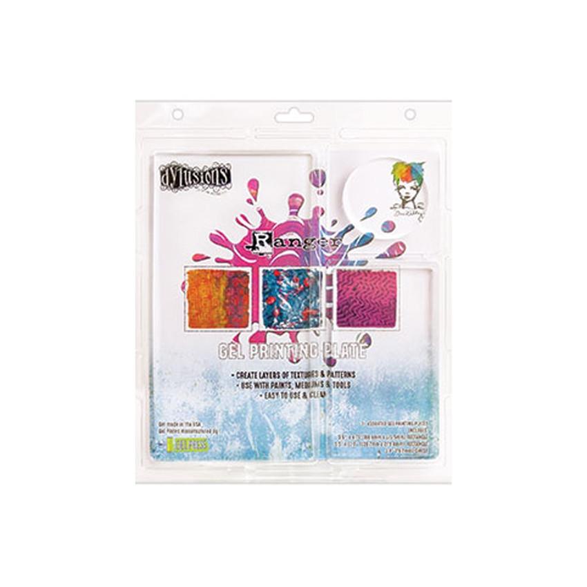 Assortiment de 3 plaques de texture en gel GEL PLATE par Ranger. Scrapbooking et loisirs créatifs. Livraison rapide et cadeau...