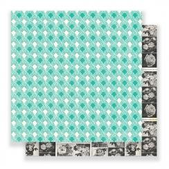 Papier imprimé Flourish CHARLOTTE par Crate Paper. Scrapbooking et loisirs créatifs. Livraison rapide et cadeau dans chaque c...