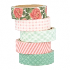 Set de 5 masking tape SECRET GARDEN
