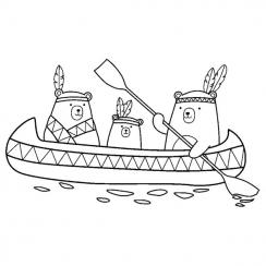 Tampon bois Totem CANOË