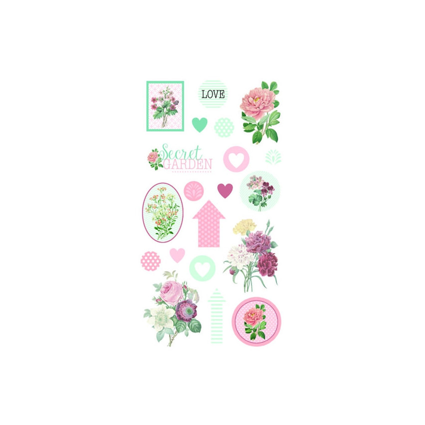 PROMO de -40% sur Stickers époxy SECRET GARDEN Artemio