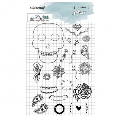 PROMO de -30% sur Tampons clear SKULL DIY and Cie