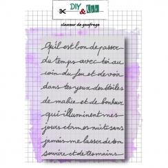 PROMO de -40% sur Plaque d'embossage PETIT MESSAGE DIY and Cie