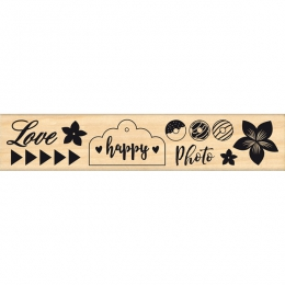 Tampon bois HAPPY PHOTO par In Spirit. Scrapbooking et loisirs créatifs. Livraison rapide et cadeau dans chaque commande.