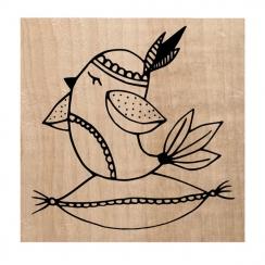 Tampon bois HYGGE BIRD par Chou and Flowers. Scrapbooking et loisirs créatifs. Livraison rapide et cadeau dans chaque commande.