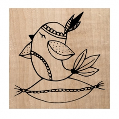 PROMO de -99.99% sur Tampon bois HYGGE BIRD Chou and Flowers