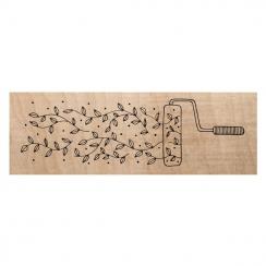 Tampon bois ROULEAU DE PEINTURE par Chou and Flowers. Scrapbooking et loisirs créatifs. Livraison rapide et cadeau dans chaqu...