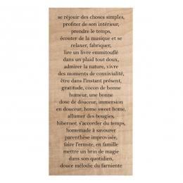 Tampon bois TEXTE HYGGE par Chou and Flowers. Scrapbooking et loisirs créatifs. Livraison rapide et cadeau dans chaque commande.