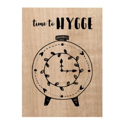 PROMO de -30% sur Tampon bois TIME TO HYGGE Chou and Flowers