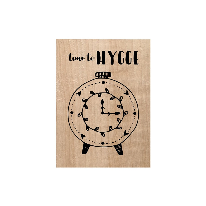 PROMO de -40% sur Tampon bois TIME TO HYGGE Chou and Flowers