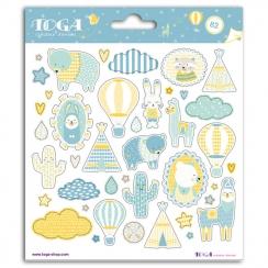 Stickers LEONARD par Toga. Scrapbooking et loisirs créatifs. Livraison rapide et cadeau dans chaque commande.
