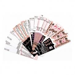 Die-cuts tickets AMELIA ROSE