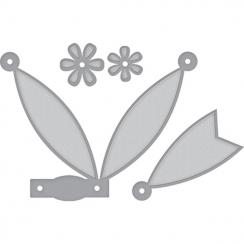 Outils de découpe PETITE DOUBLE BOW AND FLOWERS