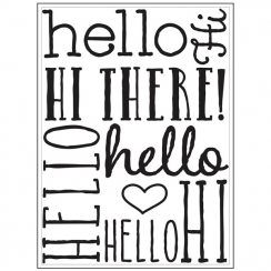 Plaque d'embossage HELLO BOLD
