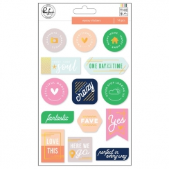 PROMO de -40% sur Stickers epoxy THE MIX NO.2 Pinkfresh Studio