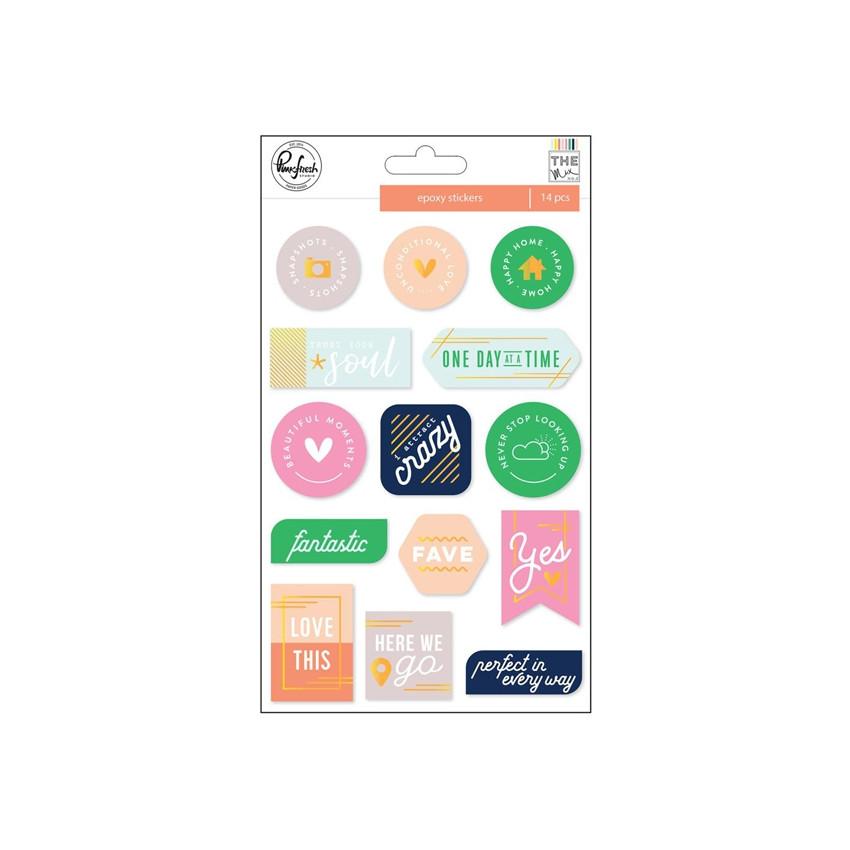 PROMO de -40% sur Stickers epoxy THE MIX NO.2 Pinkfresh Studio