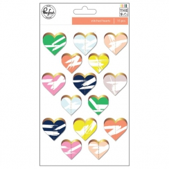 PROMO de -30% sur Die cuts gold heart THE MIX NO.2 Pinkfresh Studio