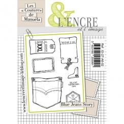 Tampons clear BLUE JEANS STORY par L'Encre et l'Image. Scrapbooking et loisirs créatifs. Livraison rapide et cadeau dans chaq...