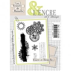 Tampons clear ENCRE ET DENTELLES par L'Encre et l'Image. Scrapbooking et loisirs créatifs. Livraison rapide et cadeau dans ch...