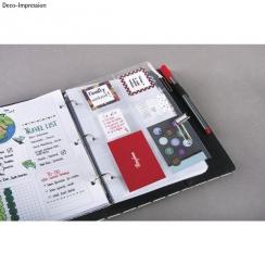 Pochettes pour planner 6 compartiments par Rayher. Scrapbooking et loisirs créatifs. Livraison rapide et cadeau dans chaque c...