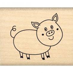 Tampon bois MON PTIT COCHON par Florilèges Design. Scrapbooking et loisirs créatifs. Livraison rapide et cadeau dans chaque c...