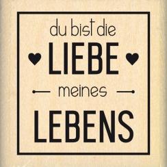 Tampon bois allemand LIEBE MEINE LEBENS par Florilèges Design. Scrapbooking et loisirs créatifs. Livraison rapide et cadeau d...