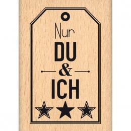 Tampon bois allemand DU UND ICH par Florilèges Design. Scrapbooking et loisirs créatifs. Livraison rapide et cadeau dans chaq...