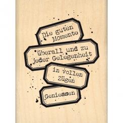 Tampon bois allemand WIRKLICH GENIESSEN
