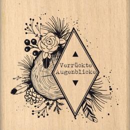 Tampon bois allemand NATÜRLICHE AUGENBLICKE par Florilèges Design. Scrapbooking et loisirs créatifs. Livraison rapide et cade...