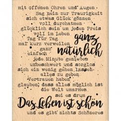 Tampon bois allemand NATÜRLICH par Florilèges Design. Scrapbooking et loisirs créatifs. Livraison rapide et cadeau dans chaqu...