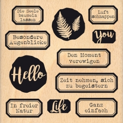 Tampon bois allemand HALLO LEBEN
