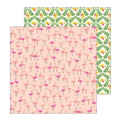 PROMO de -30% sur Papier imprimé Patio Party LET'S FLAMINGO Pebbles