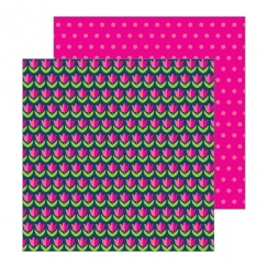 PROMO de -30% sur Papier imprimé Patio Party TULIPS Pebbles