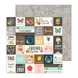 PROMO de -30% sur Papier imprimé Patio Party FROM ME TO YOU Pebbles
