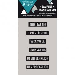Tampons clear allemand MINIWÖRTER 1 par Florilèges Design. Scrapbooking et loisirs créatifs. Livraison rapide et cadeau dans ...
