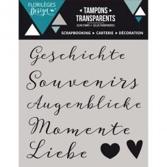 Tampons clear allemand KLEINE WORTE 2 par Florilèges Design. Scrapbooking et loisirs créatifs. Livraison rapide et cadeau dan...