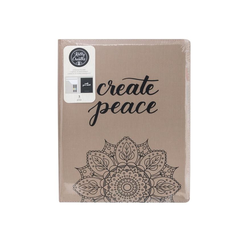 Pochette de rangement pour matériel de lettering Kelly Creates par American Crafts. Scrapbooking et loisirs créatifs. Livrais...