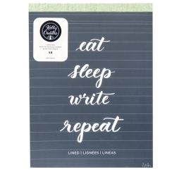 Bloc de papier ligné pour lettering Kelly Creates LINED PAD par American Crafts. Scrapbooking et loisirs créatifs. Livraison ...